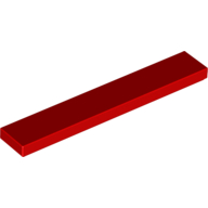 [New] Tile 1 x 6, Red. /Lego. Parts. 6636
